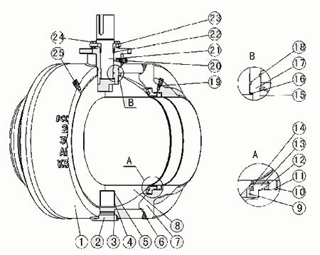 q61f焊接必威体育首頁结构示意图