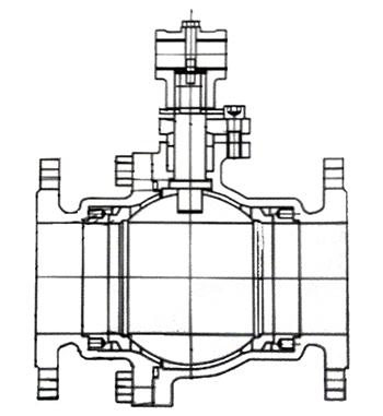 不锈钢涡轮法兰必威体育首頁结构示意图