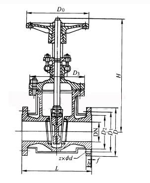 保温闸阀结构示意图