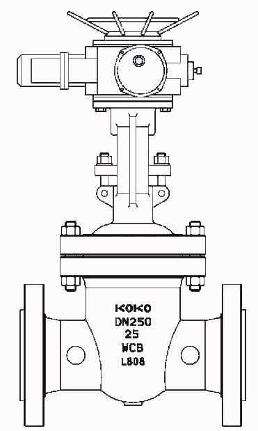 电动闸阀结构示意图