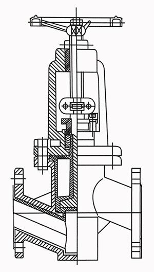 衬氟截止阀结构示意图